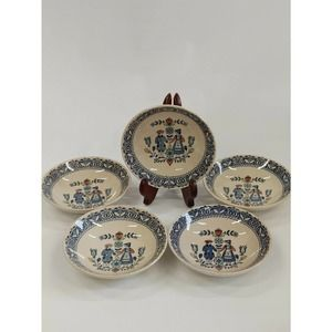 5 Vtg Johnson Brothers Hearts,Flowers Dessert Bowl